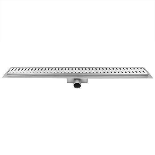 GOTOTOP 60,96 cm Linearer Duschablauf 304 Edelstahl rechteckig Nassraum Ablaufsystem Dusche Bodenablauf Hersteller für Küche Bad Seitlicher Abfluss