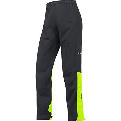 GORE Wear C3 Lange Herren Regenhose GORE-TEX, S, Schwarz/Neon-Gelb