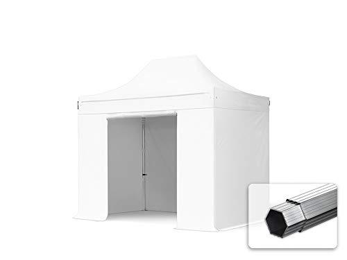 TOOLPORT Faltzelt Faltpavillon Professional 3x2 m mit 4 Seitenteilen (ohne Fenster) - ALU Pavillon Partyzelt weiß