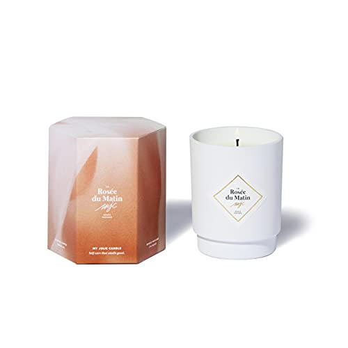My Jolie Candle, candela profumata alla pompelmo peonia, la Rosée du Matin, cera naturale 100% vegetale, 50 ore di combustione, profumo francese, 250 g