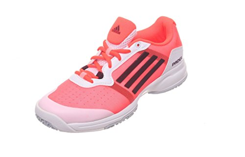 adidas Sonic Court W Padel OC - Zapatillas para Mujer, Color Blanco/Rosa/Naranja/Negro, Talla 40