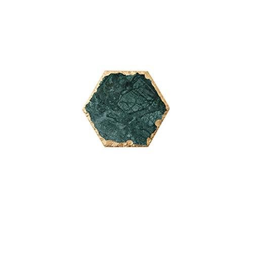 RUI - K25 Bandeja Decoración Las Misceláneas Escritorio Anillo Collar Mármol Decorativo Bandejas Almacenamiento Bandeja Verde Exhibición Joyería Placa Organizador Cosmético (Color : Hexagon M)