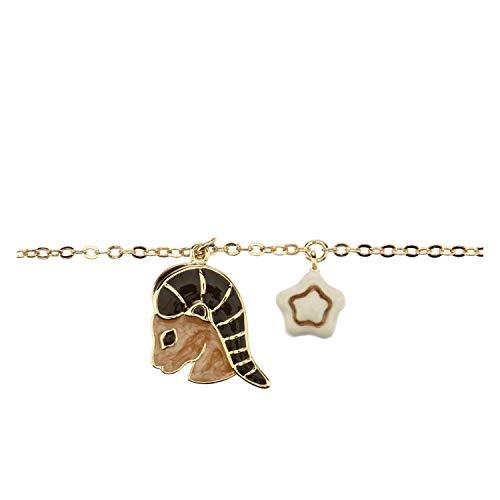 THUN - Damen-Armband mit Sternzeichen Steinbock - Goldschmuck für Damen - Messing vergoldet und Keramik