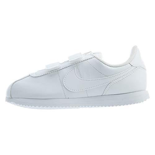 Nike Boys Cortez Basic SL (PS) Pre-School Shoe, Zapatillas de Atletismo para Niños, Blanco (White/White/White 100), 35 EU