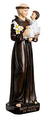 Reproduction Statue Saint Antoine de Padoue Couleurs 20/5/5 cm