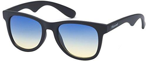 SQUAD - Gafas de sol para hombres Lentes Espejo 100% de protección UV400 AS61123 (C6)