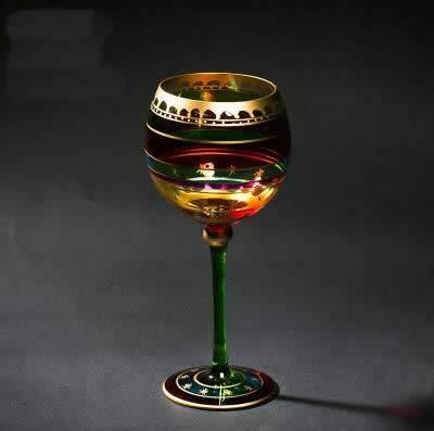 CBVG Copa de Cristal Copa de Cristal de Estilo navideño Divertido muñeco de Nieve Copa de Copa Alta Decoración...