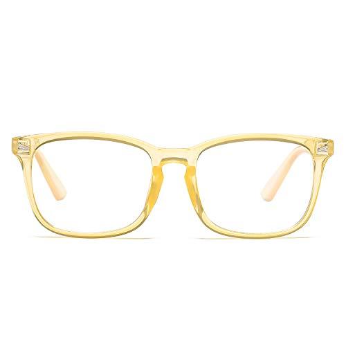 Pro Acme Non-prescription Glasses Frame Clear Lens Eyeglasses (Transparent Orange)