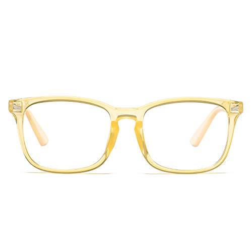 Pro Acme Non-prescription Glasses Frame Clear Lens Eyeglasses (Transparent Orange)