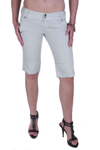 Diesel Louver Pantaloni Damen Bermuda Shorts (Grau, 28W)