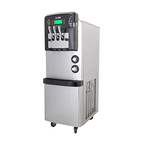 Máquina de sorvete 36-42L/H comercial automática, máquina de sorvete de alta bufante, função de pré-resfriamento 3300W DALIBAI (cor: cinza claro, tipo de plugue: Reino Unido)