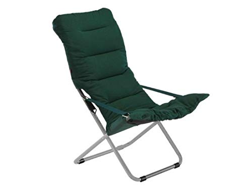 2 x Isabella Thor gris foncé chaises /& repose-pied-inclinable-Relaxant JARDIN