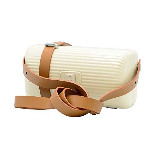 オイスターホワイト/DL-2802 UV除菌バッグ スマホ UV 除菌 ボックス ショルダーバッグ ハンドバッグ 紫外線 マスク 消毒ボックス 除菌box