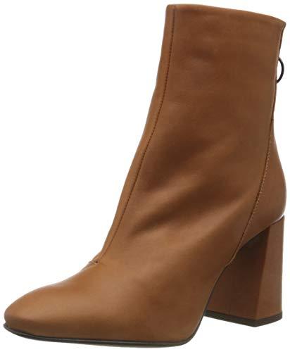 VERO MODA Damen VMCILLA Leather Boot Stiefelette, Cognac, 39 EU