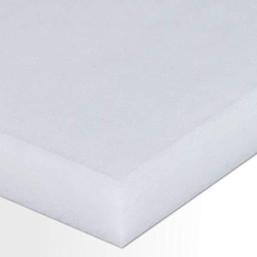 Polyester-Dämmvlies-Matte/Stärke 40mm / selbstklebend - RG: ca. 30kg/m³ - weiß