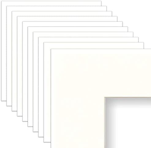 Frame Amo 4x6 White Mat for Picture Frame 2 5x4 5 Bevel Cut for 3x5 Picture White Core 10 Pack product image