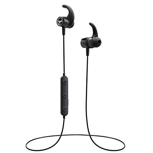Mpow S10 Bluetooth Headphones, IPX7 Waterproof Sports Headphones W/HiFi Stereo Sound, Running Headphones W/ 8-9 Hours Playtime, Wireless Headphones Magnetic Earphones, Black