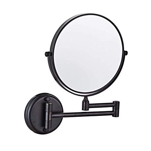 Yxxc Specchio da Parete Girevole Specchio da Parete aggiornato da 6 Pollici / 8 Pollici Specchio per Il Trucco da Parete ingrandito con ingrandimento 1X / 3X Specchio da Barba
