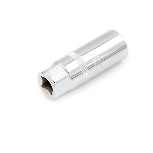 LJQSS Prevenir Fugas Herramienta de Llave de instalación del zócalo de la bujía de Metal de 16 mm 3/8 Durable (Size : 1pc)