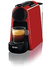 De' Longhi EN 85.R Macchine del caffè Essenza Mini Nespresso, 1370 W, 1 Cups, Plastica, Rosso
