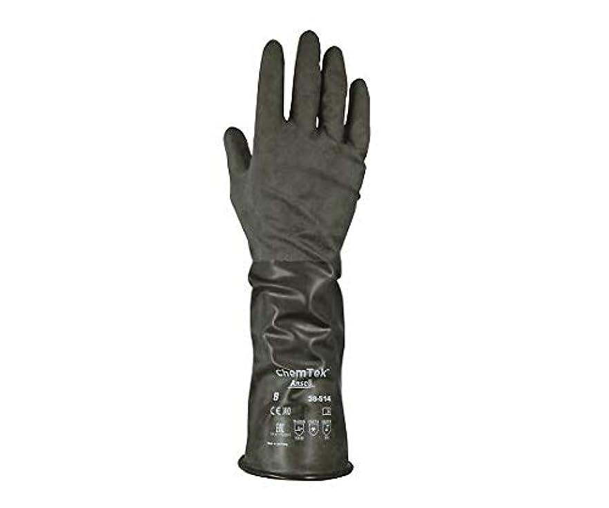 国家狐系譜化学防護手袋(ブチルゴム) XL /7-823-04