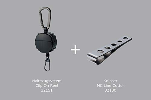 Daiichiseiko Set bevestigingsysteem Clip On Reel + monofilament snoer knips schaar