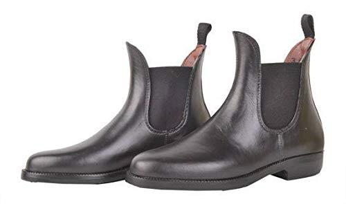 HKM Jodhpurgummistiefel -Soft/weit- mit Elastikeinsatz, schwarz, 45