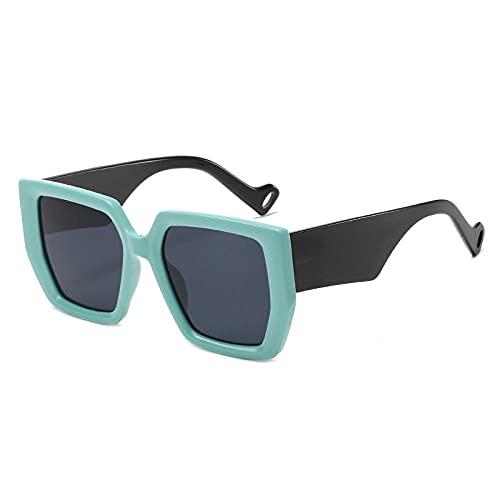 Gafas De Sol Hombre Mujeres Ciclismo Gafas De Sol Casuales De Moda para Mujer, Gafas De Sol Cuadradas Retro para Hombre-Green_Black_Gray