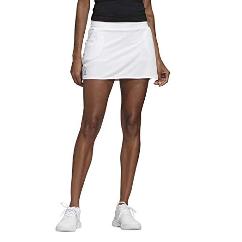 adidas Damen Club Rock Kleid, Damen, Kleid, FVX01, Weiß/mattsilber/schwarz, XXS