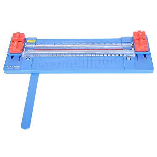 Cortador de papel 4 en 1, cortador de papel de enrollar doblado para la escuela en casa, estudio fotográfico(blue)