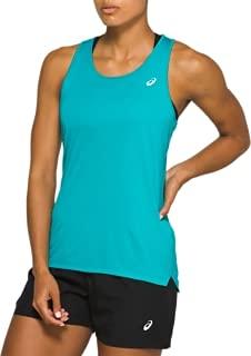 ASICS Silver Run Tank Camiseta de Tirantes Anchos, Laguna, XS para Mujer