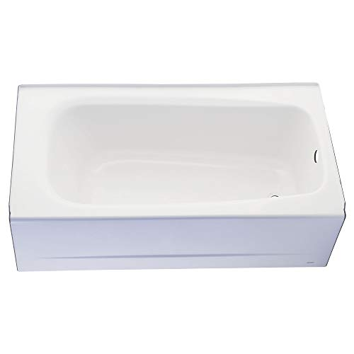 American Standard 2460002.011 Cambridge Apron-Front Americast Soaking Bathtub Left Hand Drain, 5 ft x 32 in, Linen