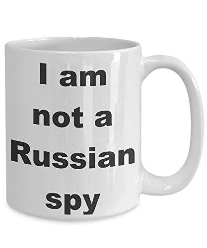N\A Sátira política no Soy un espía Ruso Taza de café de cerámica Blanca