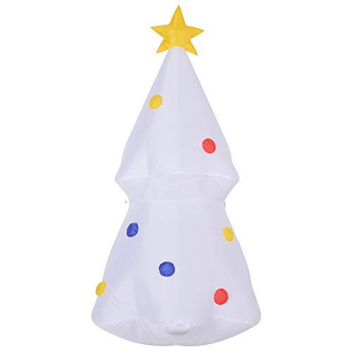 homcom Gonfiabile di Albero di Natale con Luci a LED, 180 cm di Altezza, Autogonfiabile Elettrico
