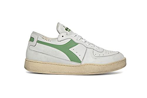 Diadora Heritage Lifestyle Footwear Unisex Herren Damen 101.160277 - Game P High C0657 - Weiß/Weiß 36.5 EU, C8451 White Stone Green, 40.5 EU