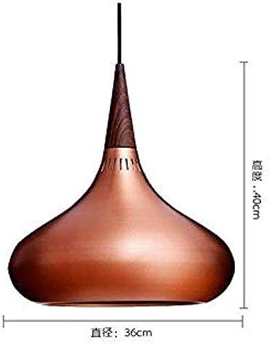 Led Plafonniers Lampe De Chevetpersonnalité Lampes Bois Aluminium Lampes à Suspension Pour Reste Restaurant Stairs éclairage De Chevet Décor, Cuivre Grand