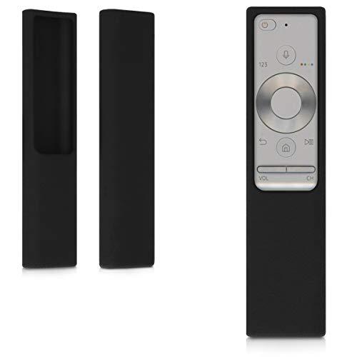 kwmobile Cover protettiva compatibile con Samsung BN59-01265A OneRemote - Custodia in silicone per telecomando TV - Guscio salva telecomando antiurto - nero