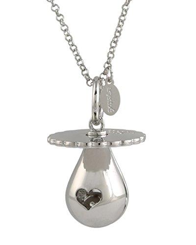 CHIAMA ANGELI CAMPANELLO BOLA MESSICANA rodiata CIUCCIO argentoè con collana cm.80 (argento)