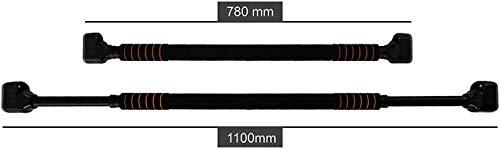 BoarderKING Türreck mit Absturzsicherung Klimmzugstange mit Handpolster, transparente Seitengummis, bis 300 kg, inkl. Tranings- und Montagevideo (Patent KS)