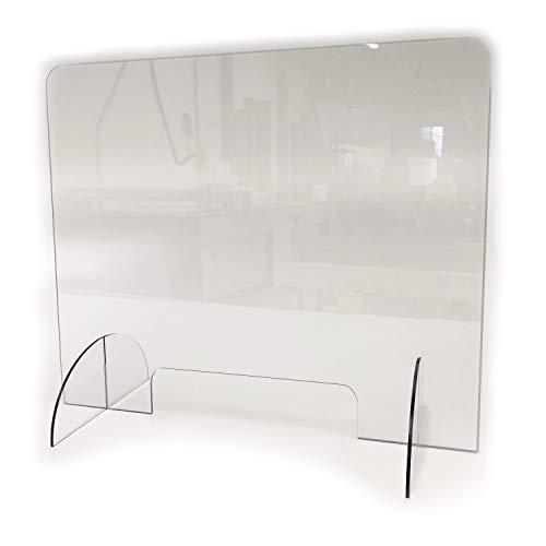 Plaque de protection plexiglas pour bureaux - protection plexiglass de haute qualité - cloison de separation en plaque de plexiglass transparent - 60x40cm