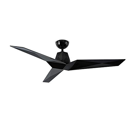 Modern Forms FR-W1810-60-GB Contemporary Modern 60``Ceiling Fan from Vortex Collection Finish, 60in Blade Span, Gloss Black
