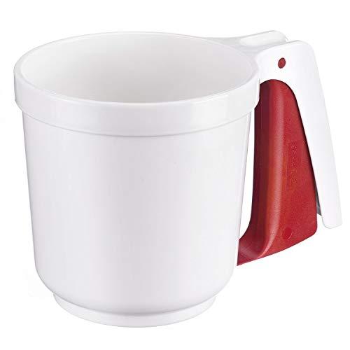 Westmark Tamiz para harina y azúcar en polvo, Con mango, Plástico, Blanco/rojo, 32142270