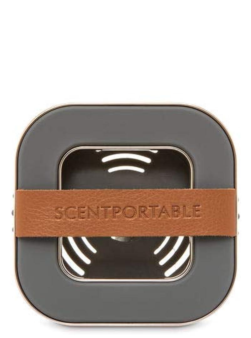 転用番目アレンジ【Bath&Body Works/バス&ボディワークス】 車用芳香剤 セントポータブル ホルダー (本体ケースのみ) バンドレザー Scentportable Holder Banded Leather Beveled Square Vent Clip [並行輸入品]