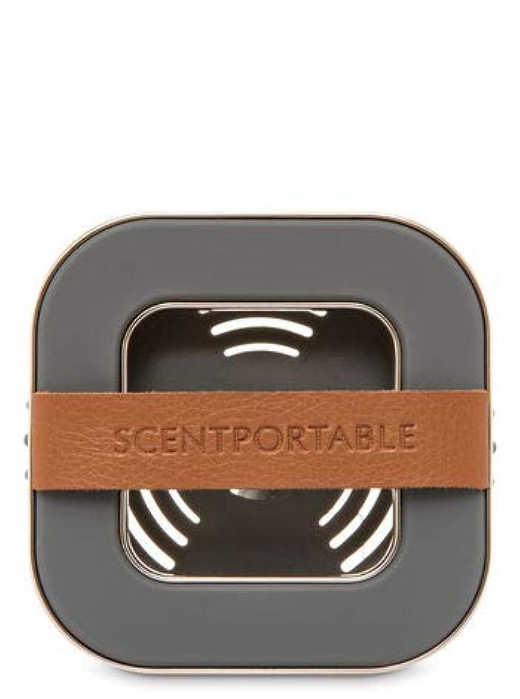 合体信頼性絶妙【Bath&Body Works/バス&ボディワークス】 車用芳香剤 セントポータブル ホルダー (本体ケースのみ) バンドレザー Scentportable Holder Banded Leather Beveled Square Vent Clip [並行輸入品]