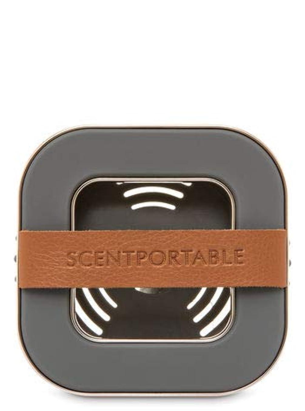 重荷まっすぐ平野【Bath&Body Works/バス&ボディワークス】 車用芳香剤 セントポータブル ホルダー (本体ケースのみ) バンドレザー Scentportable Holder Banded Leather Beveled Square Vent Clip [並行輸入品]