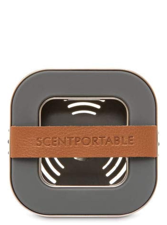 学期区画デクリメント【Bath&Body Works/バス&ボディワークス】 車用芳香剤 セントポータブル ホルダー (本体ケースのみ) バンドレザー Scentportable Holder Banded Leather Beveled Square Vent Clip [並行輸入品]