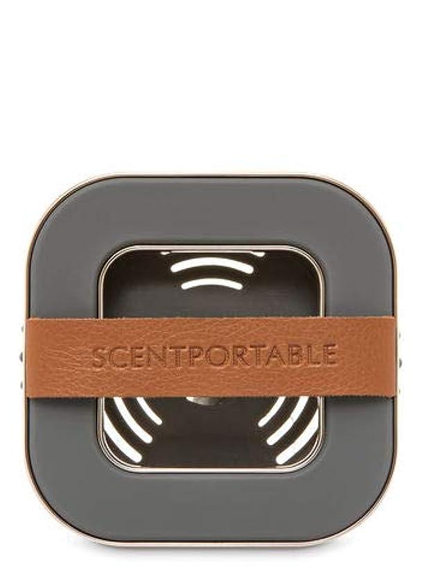 怒りプットメイト【Bath&Body Works/バス&ボディワークス】 車用芳香剤 セントポータブル ホルダー (本体ケースのみ) バンドレザー Scentportable Holder Banded Leather Beveled Square Vent Clip [並行輸入品]