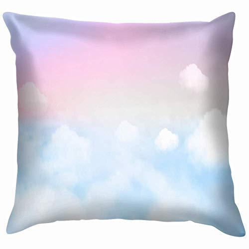 saibing - Funda de almohada para sofá o sofá, decoración de dormitorio, funda de cojín, diseño de fantasía en color pastel de 45 x 45 cm, funda de cojín cuadrada para sofá dormitorio coche