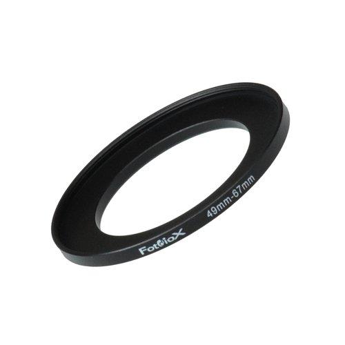 Fotodiox Metall Step Up Filteradapter Ring, eloxiert Schwarz Metall 49mm-67mm, 49-67 - Objektivgewinde auf Filtergewinde