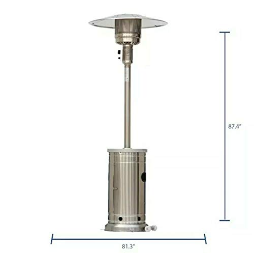 Garden Treasures 48000-BTU Stainless Steel LP Patio Heater